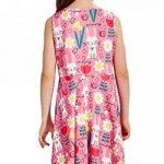 Funnycokid Petite Fille Robes de Fleur D 'est de Votre Ressort Est Imprimé Patineuse sans de la marque Funnycokid image 2 produit