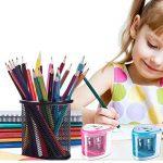 Fuqun à piles Taille-crayon électrique Crayons de couleur Taille-crayon automatique crayon Cutter pour enfants, adultes, artistes, ou Sharpeners pour crayons Taille-crayon, Office Professionnel rose de la marque FUQUN image 1 produit
