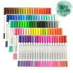 GC Quill Stylos à brosse à double pointe à 100 couleurs avec bordure fine Tip 0.4 PA32 de la marque GC Writing Quill image 3 produit
