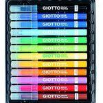 Giotto Decor Textile marqueurs pour tissus en Etui avec 8couleurs standard + 4couleurs fluo de la marque Giotto image 1 produit