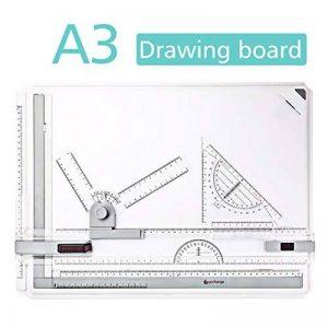 GOCHANGE A3 Planche à Dessin, 50 x 36.5cm Drawing Board Table à Dessin avec Mouvement Parallèle, Angle Réglable de la marque GOCHANGE image 0 produit