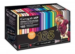 Graph'it Malette avec collection complète Lot de 165 Marqueurs Couleurs assorties de la marque GRAPH'IT image 0 produit