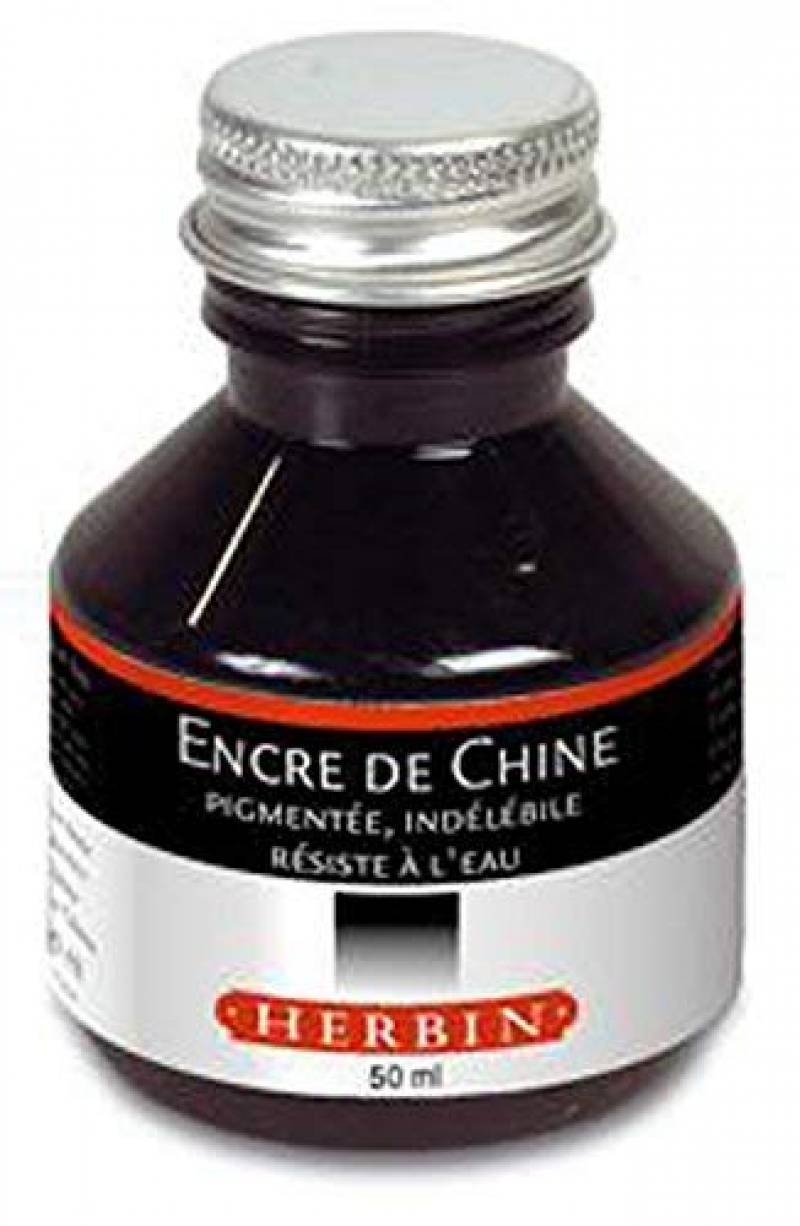 Encre ind/él/ébile pigment/ée brun s/épia INKG-1500 #65 pour stylo-plume