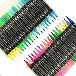 Hethrone Stylos à brosse à double pointe à 100 couleurs avec bordure fine Tip 0.4 PA37 de la marque Hethrone image 2 produit