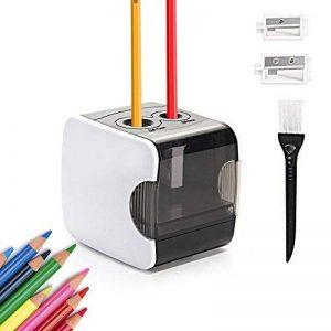 HOMMINI Taille-Crayon Electrique Avec Réservoir Chargé par USB & Batterie(Non inclus),2 trous (6-8mm & 9-12mm), Taille crayon automatique,Idéal pour La classe, Le bureau et La maison de la marque HOMMINI image 0 produit