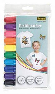 Idena 60035–Marqueurs textile pour tissus de couleur claire, Lot de 10 de la marque Idena image 0 produit
