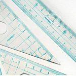 ISABELLE 8 pièces de géométrie comprenant compas Ensemble de règle de dessin 8Pcs Protrateurs de boussole Ensemble de géométrie mathématique Papeterie pour enfants Cadeaux de la marque LA HAUTE image 4 produit
