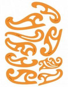 Jeu de 8 Pistolets Courbes en Plastique 1.2mm Règle Pistolet Perroquet Burmester Courbe de Bézier Française Modèle Trace Gabarit Symboles - Dessin Technique Traçage Illustration Couture Coques de Bateaux Tailleur Vêtement de la marque Bocianelli image 0 produit