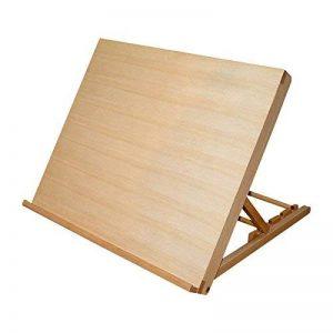Kurtzy Planche à Dessin A3- Chevalet avec 5 Niveaux d'Inclinaisons - Chevalet de Table pour Arts et Loisirs - Compatible avec Feuilles de Papier, Blocs, Livres de Croquis et Tableaux de Dessin de Format A3 de la marque Kurtzy image 0 produit