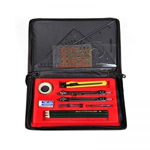 La haute Fournitures de dessin technique Compas de géométrie Skeching règles de crayon avec étui de rangement Drawing tool set de la marque LA HAUTE image 0 produit