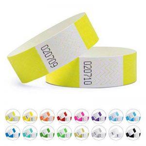 linie zwo®, Lot de 1.000 bracelets d'identification Tyvek® 19 mm, diverses couleurs disponibles de la marque linie zwo image 0 produit