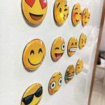 Lot de 12aimants décoratifs Baisheng, pour réfrigérateur ou tableau blanc de bureau, Émojis 3D de la marque image 2 produit