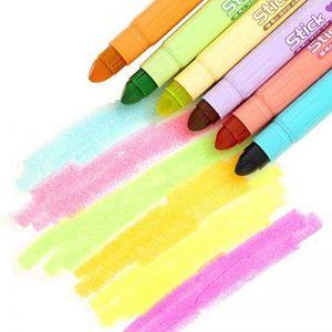 Lot de 6surligneurs gel Lot, solide Gel surligneurs Couleurs assorties multicolore de la marque Gaocheng image 0 produit