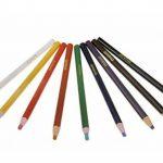 Lot de 9couleurs assorties peel-off Chine marqueurs Bullet Graisse Crayons Crayons Crayons clés pour le dessin, Doddling, peinture de coloriage sur le bois en verre Vêtements Tissus de la peau sans Taille-crayon Nécessaire de la marque YLucky image 4 produit