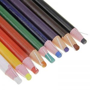 Lot de 9couleurs assorties peel-off Chine marqueurs Bullet Graisse Crayons Crayons Crayons clés pour le dessin, Doddling, peinture de coloriage sur le bois en verre Vêtements Tissus de la peau sans Taille-crayon Nécessaire de la marque YLucky image 0 produit