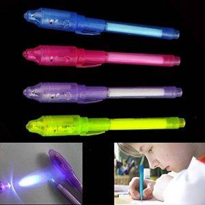 Lot de stylos à encre invisible avec lumière UV intégrée de la marque MMY image 0 produit
