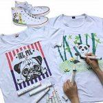 Luxbon 12 Pack Double Pointe Pigment Marqueurs en Tissu Textiles Stylos Graffiti T-Shirt Chaussures Sacs DIY - Enfant Sûr de la marque Luxbon image 4 produit