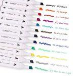 Luxbon 12PCS Double Pointe Marqueur en Tissu Textiles Pigment Bien Permanent Graffiti Coloration Enfant Sûr Non Toxique de la marque Luxbon image 1 produit
