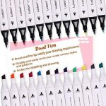 Luxbon 12PCS Double Pointe Marqueur en Tissu Textiles Pigment Bien Permanent Graffiti Coloration Enfant Sûr Non Toxique de la marque Luxbon image 2 produit