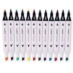 Luxbon 12PCS Double Pointe Marqueur en Tissu Textiles Pigment Bien Permanent Graffiti Coloration Enfant Sûr Non Toxique de la marque Luxbon image 3 produit