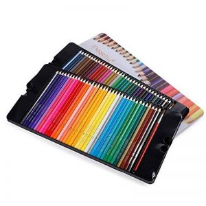 Magicfly - 72 Couleurs Crayons de couleur aquarellable Crayons d'artiste Crayons à Dessin avec 2 Pinceaux avec boîte en fer de la marque Magicfly image 0 produit