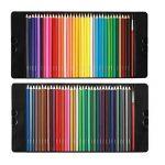 Magicfly - 72 Couleurs Crayons de couleur aquarellable Crayons d'artiste Crayons à Dessin avec 2 Pinceaux avec boîte en fer de la marque Magicfly image 2 produit
