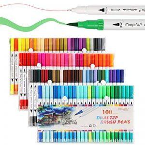 Magicfly Marqueurs Peinture 100 Couleurs Feutre Double Pointe Fine et Medium de la marque Magicfly image 0 produit