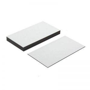 Magnet Expert lot de 10 étiquettes aimantées flexibles avec surface d'écriture brillante Blanc 89 x 51 x 0,76 mm de la marque Magnet Expert image 0 produit
