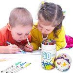 Marker stylos, Chuangmeida 60 couleurs crayons aquarelle Art Brush Stylos Set crayons crayons Surligneurs avec Dual Tip pour manga comic dessin, peinture, écriture, livres à colorier Bullet Journal Art Projects de la marque Chuangmeida image 3 produit