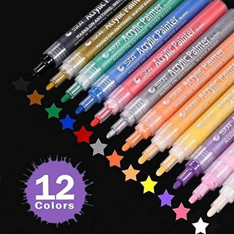 60 x marqueurs peinture dans le support de la carte MONTANA acrylique 2MM FINE marqueurs