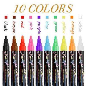 Marqueur Surligneur, Vitutech 10 color Creative Acrylique Highlighter Marker Pen étanche à la Main Stylo Aquarelle DIY Peinture marqueur pour Motif art pour l'école fournisseur - 10 set de la marque vitutech image 0 produit