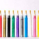 Marqueurs de peinture acrylique par Penna | un Feutre ogive/biseautée Pointe réversible | Lot de 12couleurs de la marque Penna Paint image 3 produit