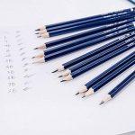 MONT MARTE Crayons Graphite - 12 pièces - Idéal pour l'écriture, le Dessin technique et le Croquis - Crayons de plomb gris - Parfait pour les Débutants, les Professionnels et les Artistes de la marque Mont Marte image 2 produit