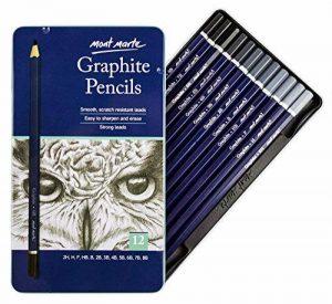 MONT MARTE Crayons Graphite - 12 pièces - Idéal pour l'écriture, le Dessin technique et le Croquis - Crayons de plomb gris - Parfait pour les Débutants, les Professionnels et les Artistes de la marque Mont Marte image 0 produit