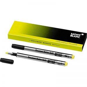 Montblanc 105168 Recharge pour Surligneur Montblanc - 2x Luminous Yellow - Jaune Lumineux de la marque Montblanc image 0 produit