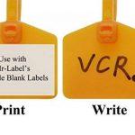 Mr-Label 110 mm nylon câble zip liens étiquettes marqueur - écrire sur | autobloquant - avec étiquettes imprimables gratuites - pour marquer et organiser le fil (100, Cinq couleurs assorties) de la marque Mr-Label image 4 produit