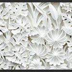 murando – Papier peint intissé – 300x210 cm – Trompe l oeil - Tableaux muraux – Déco – XXL– blanc f-B-0038-a-a de la marque Papier peint image 1 produit