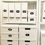Nardo Visgo Étiquette de tableau noir - 130 pièces d'autocollants réutilisables avec 2 marqueurs de craie effaçables pour étiqueter les bouteilles, les flacons et d'autres récipients afin de mettre en ordre votre maison, cuisine et bureau(Noir) de la marq image 3 produit