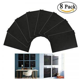 NUOLUX 8pcs A4 Tableau Noir Ardoise Sticker amovible Autocollant Sticker mural avec 1 craie (noir) de la marque NUOLUX image 0 produit