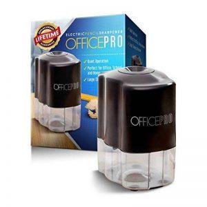 OfficePro Taille-crayon électrique, lame en acier hélicoïdales Aiguise les Crayons Y Compris Couleur, fonction d'arrêt automatique pour la sécurité, piles incluses de la marque Officepro image 0 produit