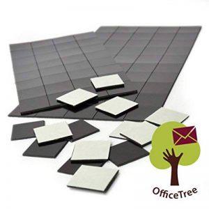 OfficeTree Lot de 2 paquets de 50 feuilles magnétiques autocollantes pour tableau blanc Noir 20 x 20 mm de la marque Office Tree image 0 produit