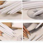 Omaloo 12pièces Mixer estompes et Tortillions Ensemble Art blender outils Dessin Ensemble d'accessoires avec 2pièces papier abrasif Taille-crayon pour étudiant Sketch Dessin 14 Pieces blanc de la marque OMALOO image 1 produit