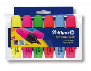Pelikan 943316 490 Lot de 6 surligneurs (Jaune/rose/vert/orange/bleu/rouge) (Import Allemagne) de la marque Pelikan image 0 produit