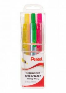 Pentel Handy-Line S Pochette de 3 Surligneurs Assortis Jaune/Orange/Vert de la marque Pentel image 0 produit