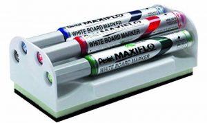 Pentel Maxiflo Brosse + 4 Marqueurs à pointe conique moyenne Noir/Bleu/Rouge/Vert de la marque Pentel image 0 produit