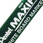 Pentel Maxiflo Lot de 12 marqueurs effaçables à sec tableau blanc Pointe biseautée moyenne Encre liquide bleue de la marque Pentel image 2 produit
