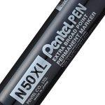 Pentel Pen N50XL-A Lot de 6 Marqueurs permanents pointe biseautée extra large Noir de la marque Pentel image 1 produit