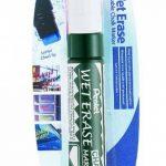Pentel Weterase Marqueur craie pointe large biseautée 10 x 15mm Encre blanche de la marque Pentel image 1 produit
