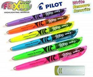 Pilot 4136s6Surligneur Frixion Light, Lot de 6, rose/jaune/vert/bleu/violet/orange avec gomme de la marque Pilot Pen image 0 produit