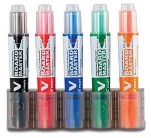 Pilot pen 5080PH5 v-board master begreen épaisseur: 2,3 mm-jeu de 5 marqueurs noir/rouge/bleu/vert/orange de la marque Pilot image 0 produit